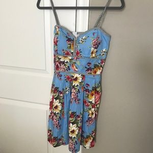 Alyn Paige Blue Floral Dress Size 5/6